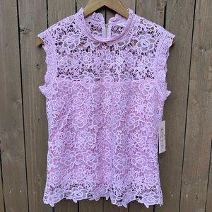 Nanette Lepore | Sugar Plum Spring Fling Lace Top